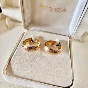 14karat gold hoop earrings